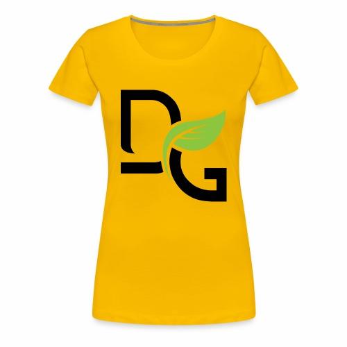 DrGreen Logo Symbol schwarz grün - Frauen Premium T-Shirt