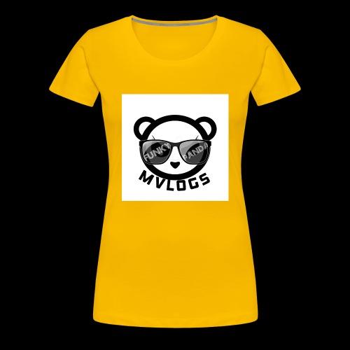 MVLOGS FUNKY PANDA - Women's Premium T-Shirt
