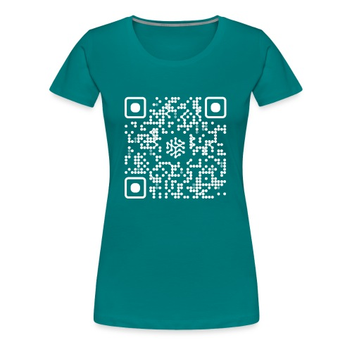 QR Safenetforum White - Women's Premium T-Shirt