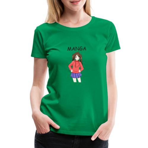 Anime girl 02 Text Manga - Frauen Premium T-Shirt