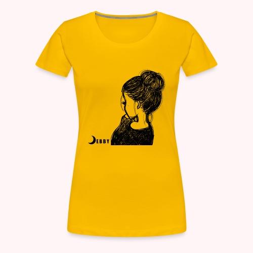 FALL BUN HAIR - 🍂COLLEZIONE AUTUNNALE by DEBBY🍁 - Maglietta Premium da donna