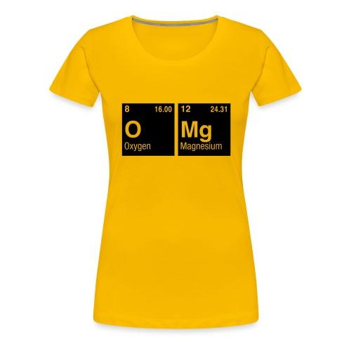 OMG geschrieben mit Elementen - Frauen Premium T-Shirt