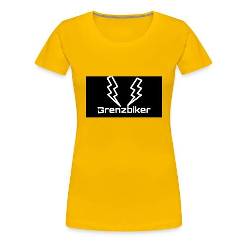 Grenzbiker logo - Frauen Premium T-Shirt