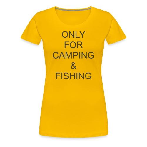 Camping & Fishing - Women's Premium T-Shirt