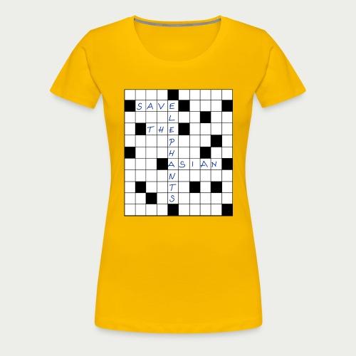 Shirt Kreuzworträtsel Save the Asian Elephants - Frauen Premium T-Shirt