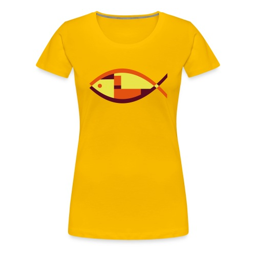 Colorful Abstract Fish - Women's Premium T-Shirt