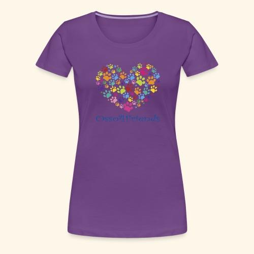 CUOREZAMPE - Maglietta Premium da donna
