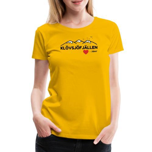 Klövsjöfjällen - Premium-T-shirt dam