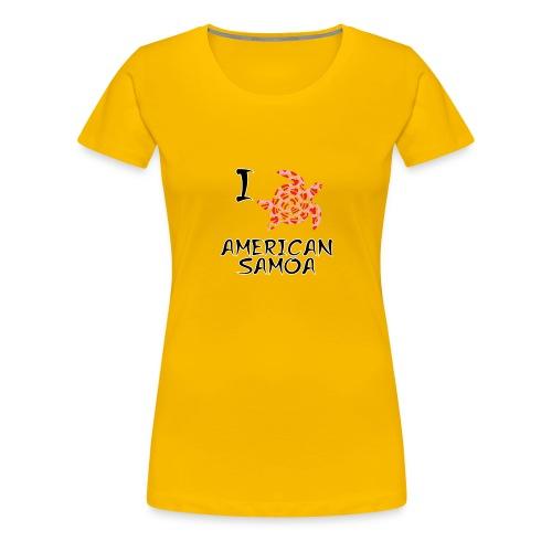 I Love American Samoa - Women's Premium T-Shirt