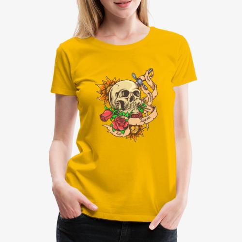 Schädel-Tattoo - Frauen Premium T-Shirt