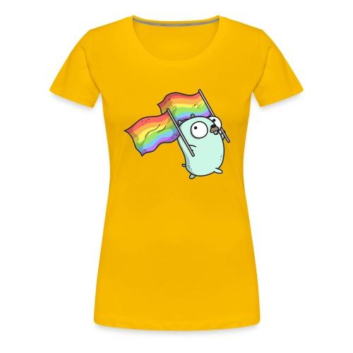 Pride Gopher - Frauen Premium T-Shirt