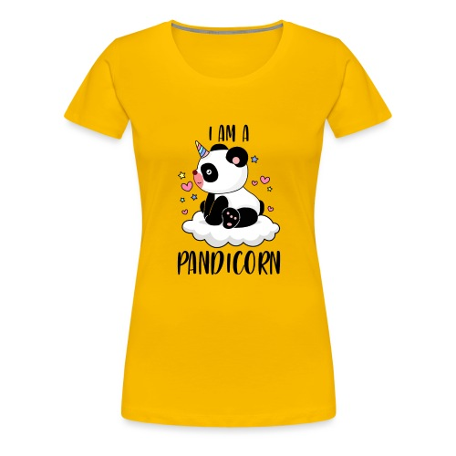 I am a Pandicorn - fun panda animal - Frauen Premium T-Shirt