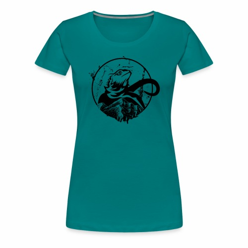 Bearded Dragon - Frauen Premium T-Shirt