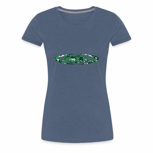 2wear original logo cammo green - Dame premium T-shirt