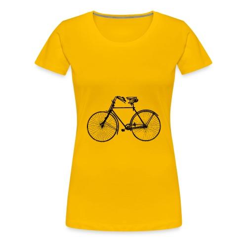 Retro Fahrrad - Frauen Premium T-Shirt