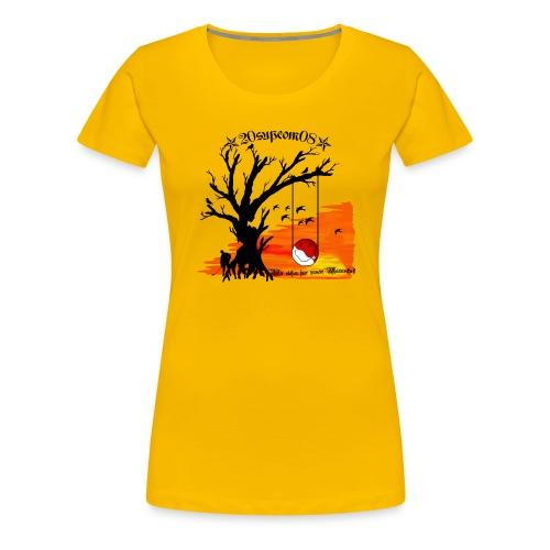 baumschaukelsupcom - Frauen Premium T-Shirt