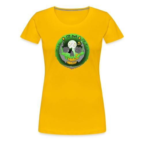 Rigormortiz Metallic Green Design - Women's Premium T-Shirt