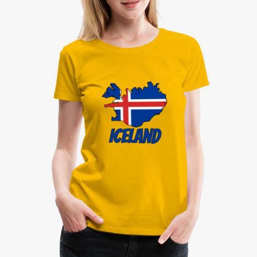 Iceland map - Camiseta premium mujer
