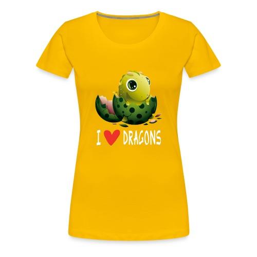 Lustiges Drachen Drache Dragon Hausdrache Geschenk - Frauen Premium T-Shirt