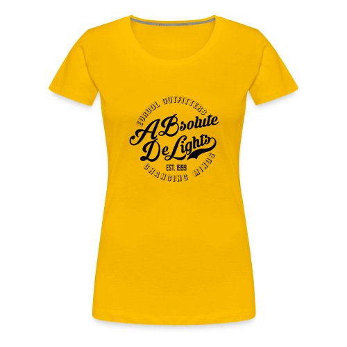 euroDL Retro T-shirt - Black - Vrouwen Premium T-shirt