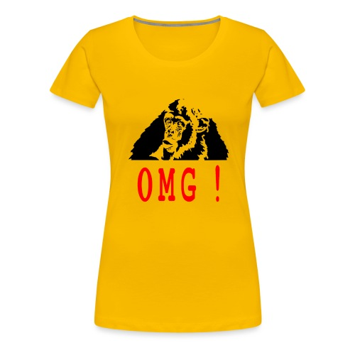 OMG monkey - T-shirt Premium Femme