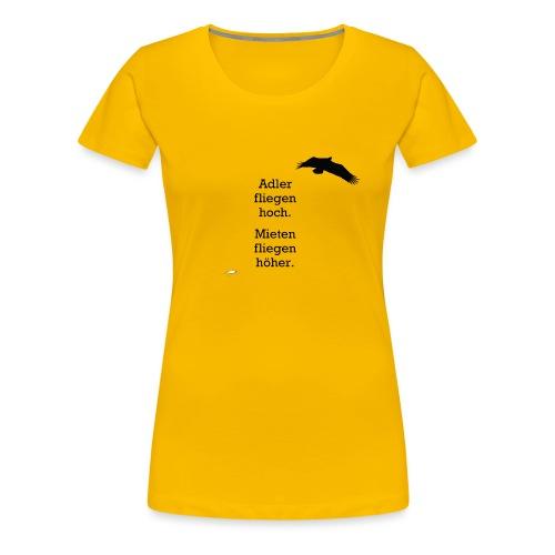 Adler fliegen hoch.../ schwarz - Frauen Premium T-Shirt