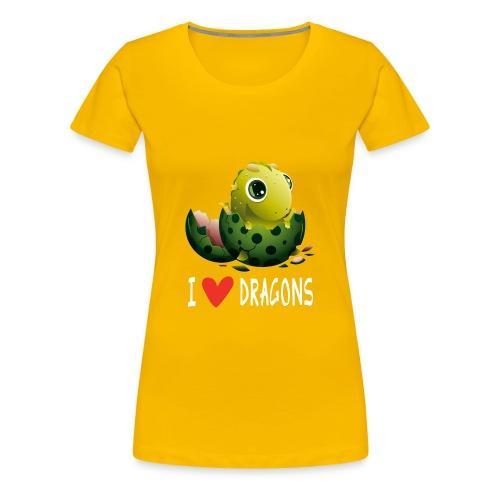 Sjov Dragon Dragon Dragon House Dragon Gift - Dame premium T-shirt