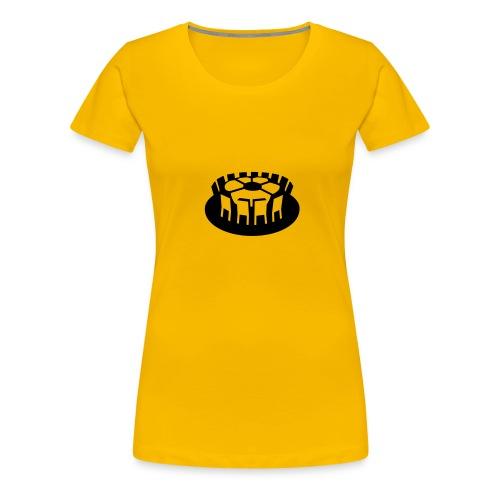 Rundes Leder - Frauen Premium T-Shirt