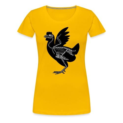 Huhn-Skelett - Women's Premium T-Shirt