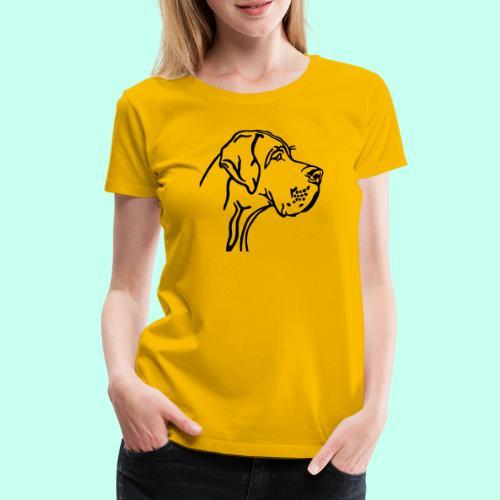 Große Dogge - Frauen Premium T-Shirt