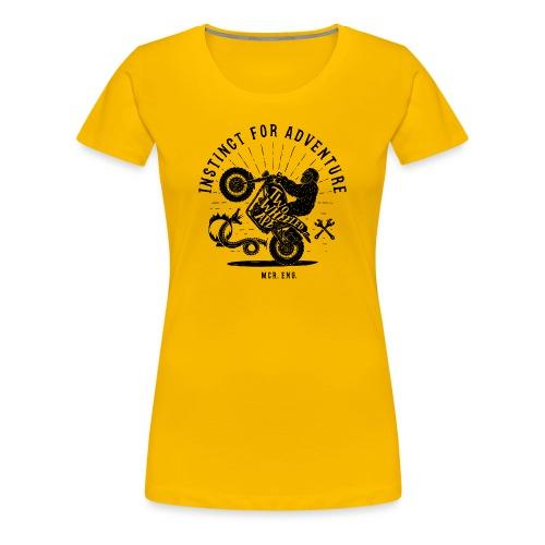 Two Wheeled Ape Wheelie Biker T shirt - Women's Premium T-Shirt