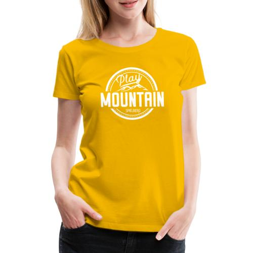 Play Mountain White Edition - Frauen Premium T-Shirt