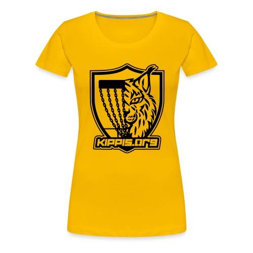Kippis.org, ilves-vaakuna (musta) - Naisten premium t-paita