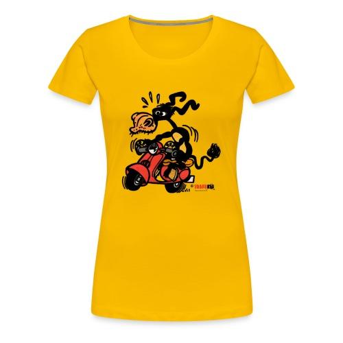 burro vespania rojo - Camiseta premium mujer
