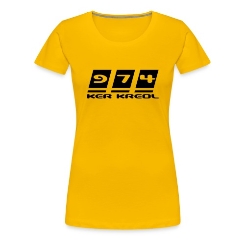 Ecriture 974 Ker Kreol - T-shirt Premium Femme