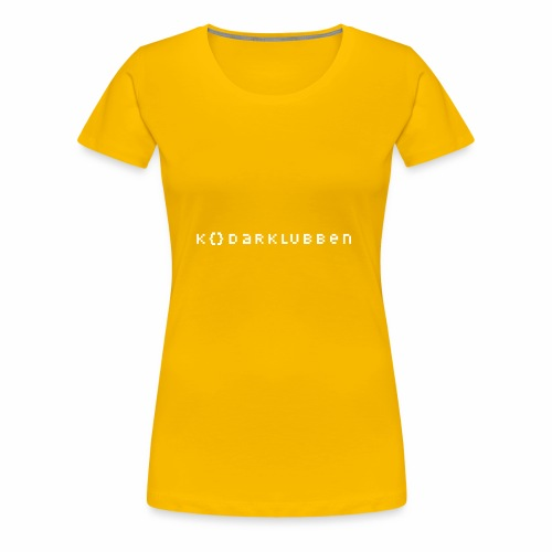The Kodarklubben mörka produkter med vit logotyp - Women's Premium T-Shirt