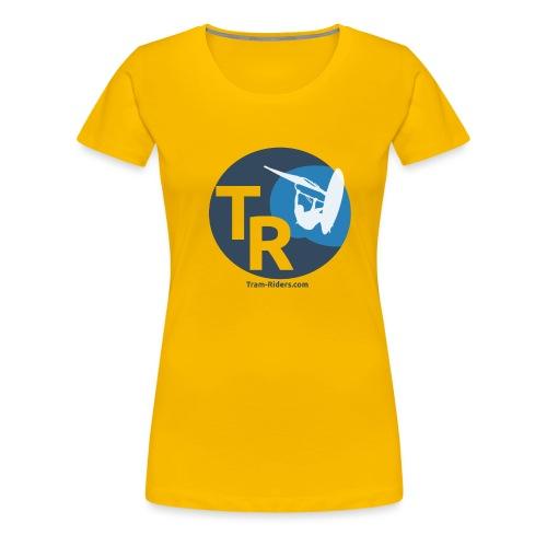 Logo flat design tramride - T-shirt Premium Femme