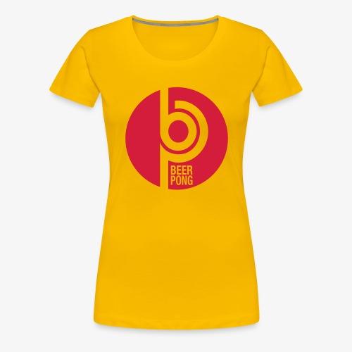 Beer Pong Kreis - Frauen Premium T-Shirt
