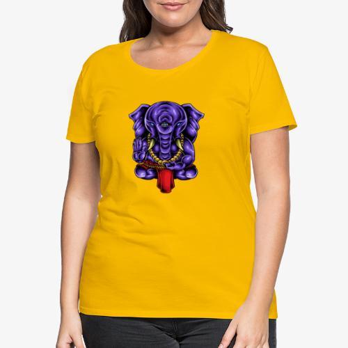 Gaṇesh - T-shirt Premium Femme