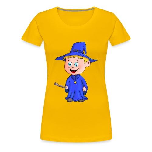 Kleiner Zauberer liebt die Zauberei - Frauen Premium T-Shirt