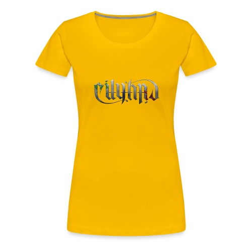 Cityard Ambigram HeavyMetal CMYK - Dame premium T-shirt