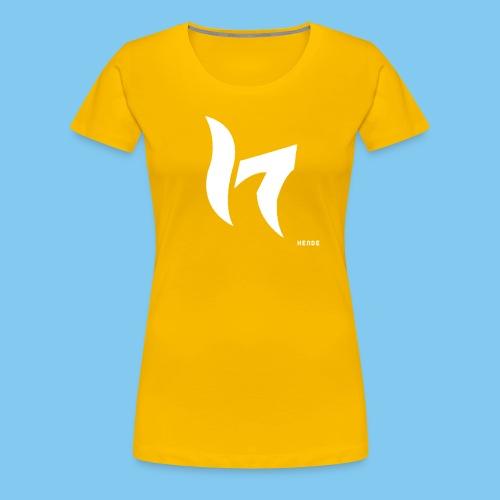 White & Text - Women's Premium T-Shirt