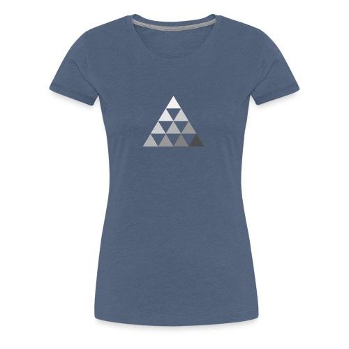 TRIANGLE FADE 2 - Maglietta Premium da donna
