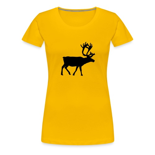 16593-illustrated-silhouette-of-a-reindeer-pv - Premium-T-shirt dam