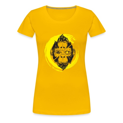 Scimmia_cambia_4 monkey - Maglietta Premium da donna
