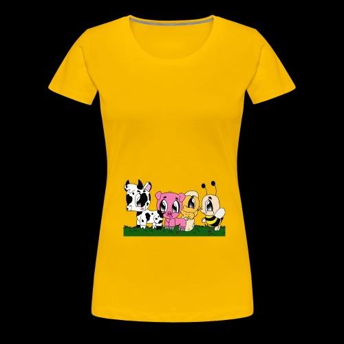 cute animals - Frauen Premium T-Shirt