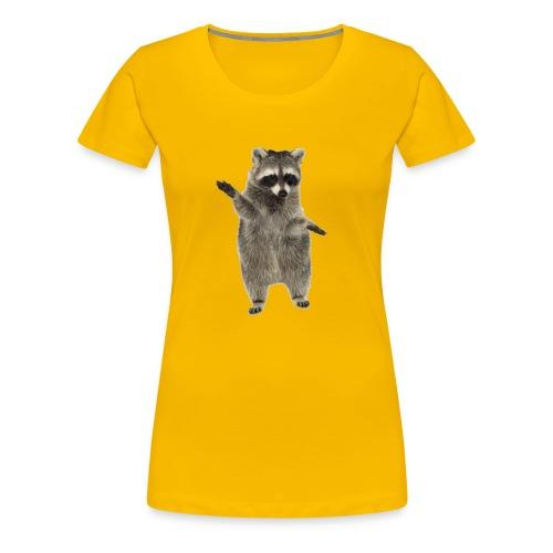 raccoon - Frauen Premium T-Shirt