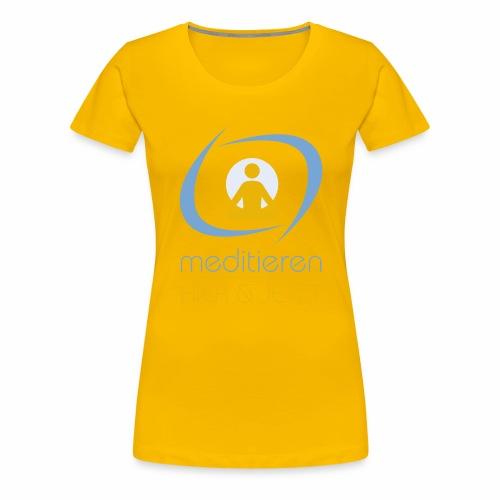 MeditierenHierJetzt.ch - Frauen Premium T-Shirt