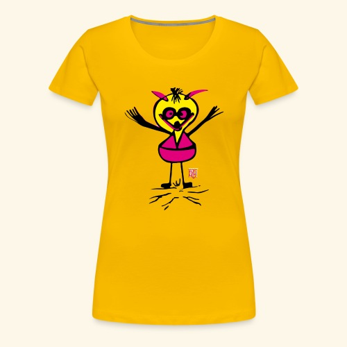 cracy bird - Frauen Premium T-Shirt