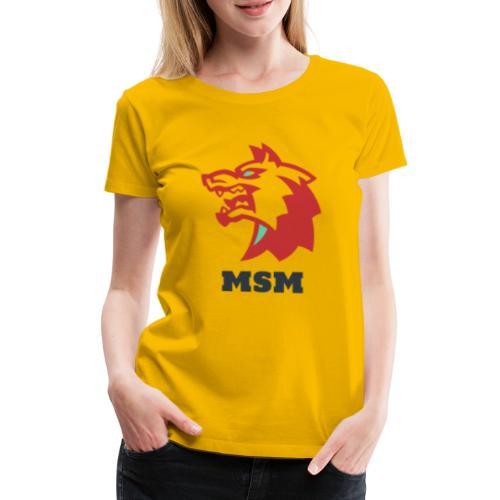 MSM WOLF - Dame premium T-shirt